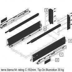 Antaro sada Tip-On Blumot. čierna M- reling C-192mm