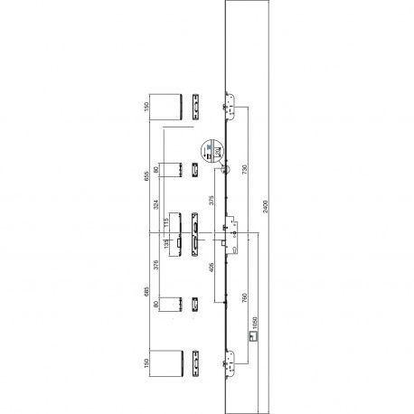 Zámok Maco Z-TF 2-strelky a 2-IS čapy 16/92/8
