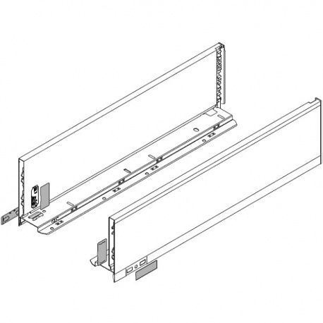 Legrabox súprava bokov biele K_144, 300mm