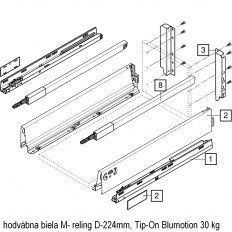Antaro sada Tip-On Blumot. biela M- reling D-224mm