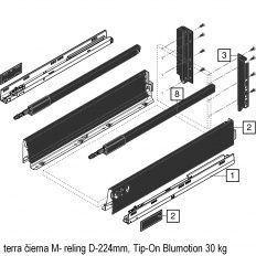 Antaro sada Tip-On Blumot. čierna M- reling D-224mm