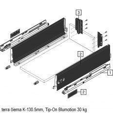 Antaro sada Tip-On Blumot. čierna K-130.5mm