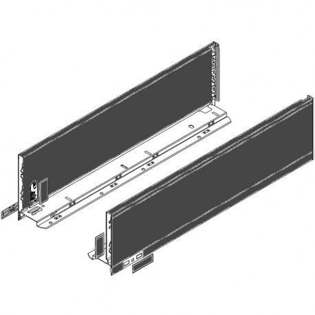 Legrabox súprava bokov čierne K_144, 600mm