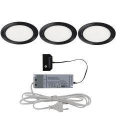 Led Sunrise 58 sda, 3x4W DualColor, d-64mm, čierne