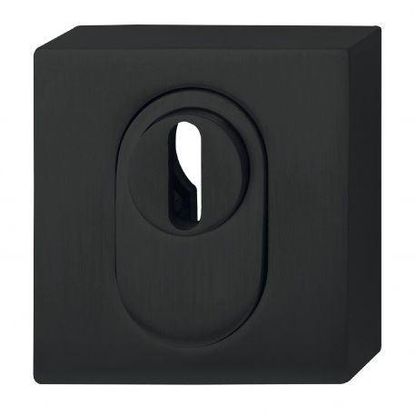 Rozeta bezpečnostná, antikor čierny 52x52mm, vonkajšia s prekr.