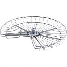VS COR Wheel 3/4 otočná polica strieborná, 720mm