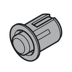 Servo-Drive dištančný doraz RAL7037 vŕtanie 5mm