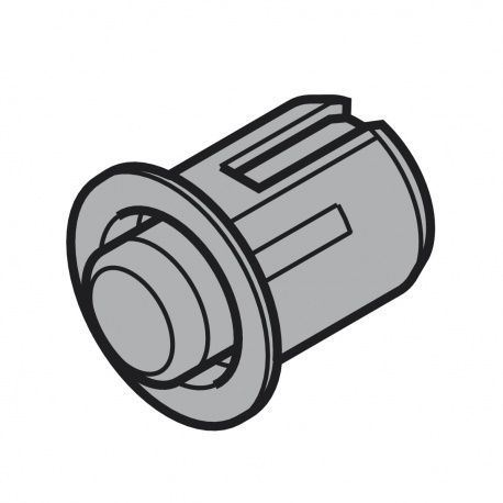 Servo-Drive dištančný doraz RAL7037 vŕtanie 8mm