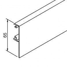Solido 80 krycí profil na koľajnicu pre drevo, strieborný elox