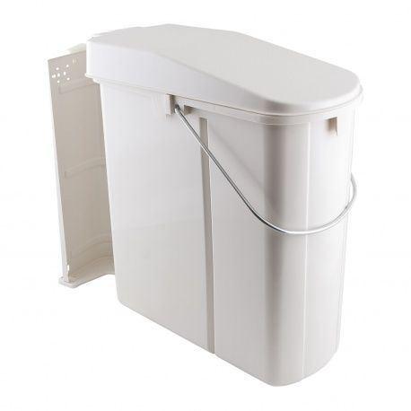 Kôš na odpadky Wesco Solo, ŠK 450mm, biely plast, 19L