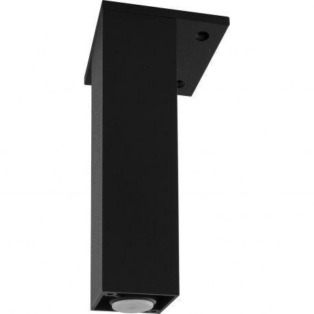 Noha ozdobná hliník čierny, 40x40mm rekt +10mm