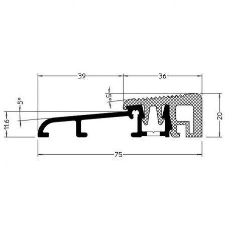 Wesser 75-TI dverový prah temoizolačný