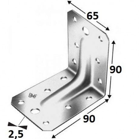 Simpson uholník ABR 90-B, 90x90x2,5x65 s prelisom