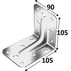 Simpson uholník ABR 105-B, 105x105x3x90 s prelisom