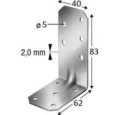 Simpson uholník AA60280, 83x62x2,0x40 s prelisom