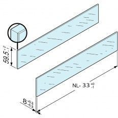 Antaro zasúvací prvok sklo číre, vyška C