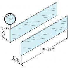 Antaro zasúvací prvok sklo číre, vyška D