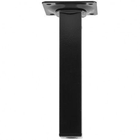Noha nábytková 25x25mm, oceľ čirna