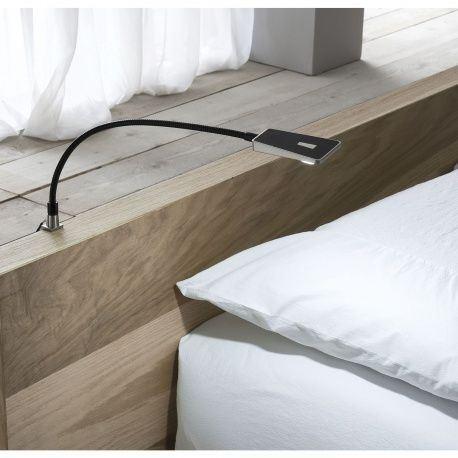LED svietidlo na postel Area Light 12V/DC, 1,4W, čierne / ponikl