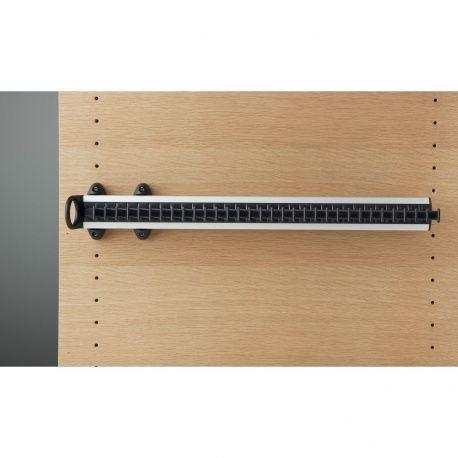 Držiak na kravaty Modell A, 505x82x85mm, hliník/ čierny plast