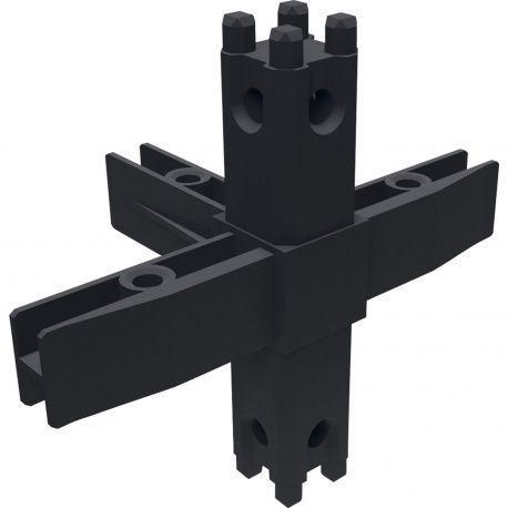 Policový systém Smartcube Schüco rohový styčník 5s, čierny