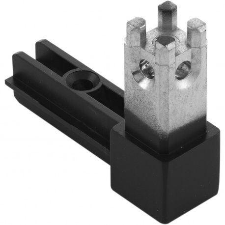 Regálový systém Smartcube Schüco rohový styčník 2s, čierny