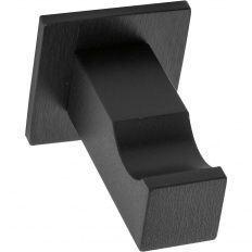 Vešiak Naxos 30x30mm, hliník čierny matný