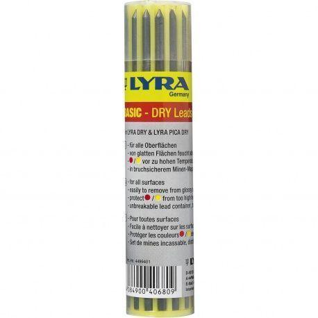 Lyra Dry náhradné tuhy, 12x grafit 2B