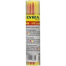 Lyra Dry náhradné tuhy, 6x grafit 2B, 3x červená, 3x žltá