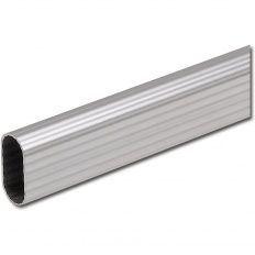 Šatníková tyč ryhovaná 30x15, hliník strieborný elox