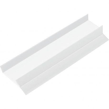 Soklový profil 19mm/3000mm plast biely RAL 9010