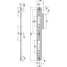 protiplech na dvojkrídlo 18/2mm R9 FE5A