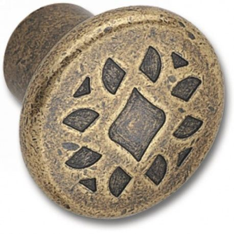 Knopok Djerba, zinková zliatina, bronz antický, d-35mm