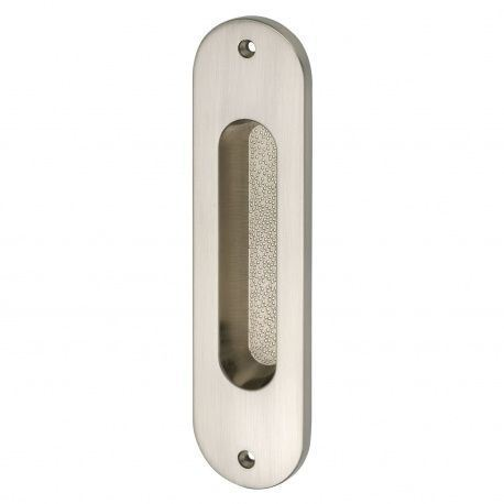 Mušľa na posuvné dvere 38x152mm, mosadz - nikel matný