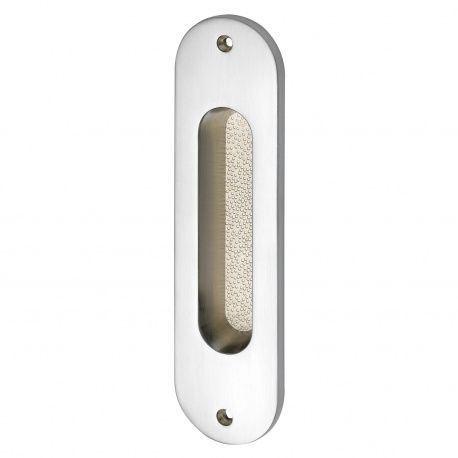 Mušľa na posuvné dvere 38x152mm, mosadz - chróm matný